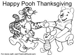 free thanksgiving coloring pages print winnie pooh