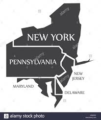 Map Of Pennsylvania And New Jersey by New York Pennsylvania New Jersey Delaware Maryland Map