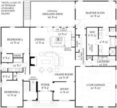 One Story Colonial House Plans I Like The Foyer Study Open Concept Great Room And Kitchen Portion