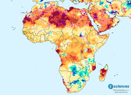 Somalia World Map by Africa Water Deficits Forecast Across The North Somalia Gabon