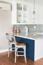 Kitchen Peninsula With Seating by White Transitional Kitchen Reveal Prink And Preen