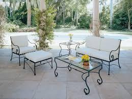 colorful outdoor iron patio furniture white wicker iron patio