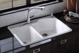 How To Open Kitchen Faucet by Kitchen Sinks Undermount Vs Top Mount Sinks And Faucets Gallery