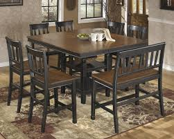 Ashley Furniture Round Dining Sets Owingsville Square Drm Counter Ext Table D580 32 Pub Tables