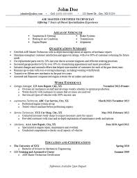 Maintenance Technician Resume Sample by Automotive Technician Resume Examples Auto Mechanic Engine Repair