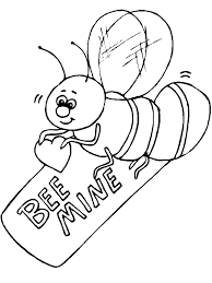 bee mine valentine coloring pages valentine coloring pages of