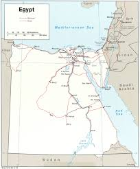 Egypt On A World Map by