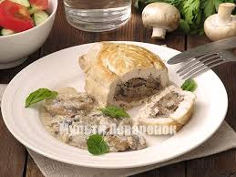 Куриные «кармашки» с грибами