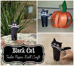 Halloween Crafts For Kids Easy Easy Black Cat Toilet Paper Roll Craft For Kids Crafty Morning