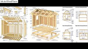 Free Saltbox Wood Shed Plans by Shed Plans Free 12x16 Shed Plans Youtube