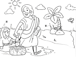 bible stories for toddlers coloring pages with free preschoolers