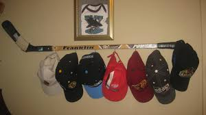 needed a hat rack for all those hockey hats took husbands old