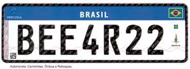 Placa do Mercosul começará a ser adotada no Brasil em 2017 ...