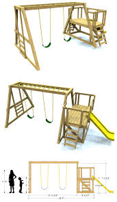 Plan Set Best 25 Swing Set Plans Ideas On Pinterest Baby Swing Set