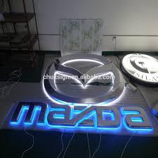 mazda car logo new big horizontal mazda car logo sign vacuum formed backlit led