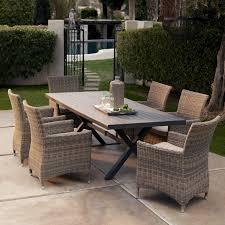 Martha Stewart 7 Piece Patio Dining Set - bella all weather wicker patio dining set seats 6 patio dining