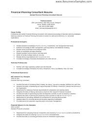 Financial Planner Resume Sample by Planning Skills Resume