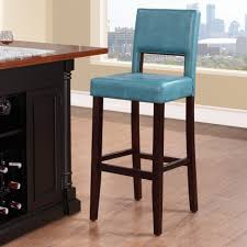 Wine Rack Kitchen Island by Ocean Blue Leather Bar Stools Light Wood Flooring Island With Wine