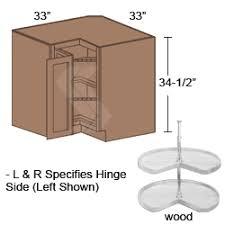 BERRWood Hawthorne Maple Ginger Brushed Black Glaze Lazy - Corner kitchen base cabinet