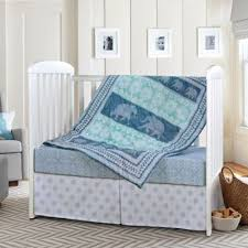 blue elephant crib bedding from buy buy baby