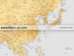 Fuzhou China Map by Highly Detailed Printable Word Map In Faux Gold Foil And Grey Our