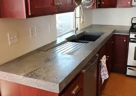 awesome ivory color kitchen concrete countertop featuring brown beauteous brown color