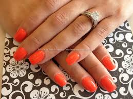 eye candy nails u0026 training acrylic nails with orange gel polish