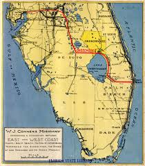 Map Florida Gulf Coast by Florida Memory Map Of The W J Conners Highway And Connecting