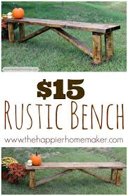 Basic Wood Bench Plans by Best 25 Rustic Wood Bench Ideas On Pinterest Long Bench Diy