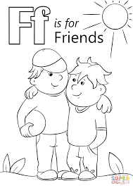 letter f is for friends coloring page free printable coloring pages