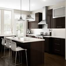dark wood and white combination cupboards collection with kitchen