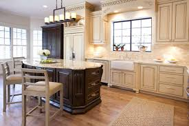 Antiqued Kitchen Cabinets by Alluring 30 Cream Kitchen Cabinets Pictures Decorating Design Of