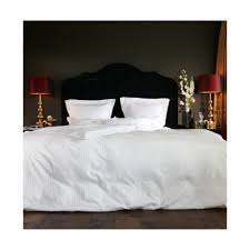 como bed linen white with sateen stripes