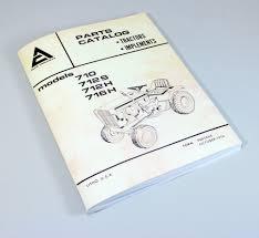 allis chalmers 710 712s 712h 716h parts catalog 700 series lawn