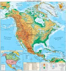 Centro America Map by North And Central America Detailed Physical Map Detailed Physical