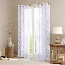 furniture elegant curtains brown curtains blue and white sheer