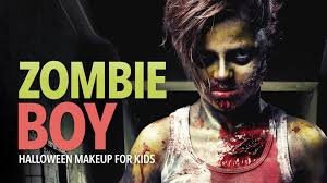 zombie boy halloween costume zombie boy halloween makeup for kids youtube