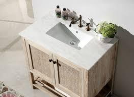 Bathroom Vanity With Tops by Abel 36 Inch Rustic White Wash Bathroom Vanity Marble Top