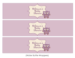 free owl baby shower templates lavender owl baby shower water