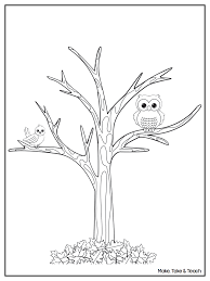 free downloadable coloring page perfect for fall make take