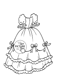 with bows coloring page for girls printable free