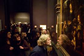 In Frederick Wiseman     s    National Gallery     the filmmaker     s studies of people entranced  or