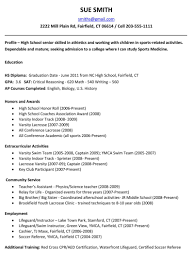 Resume For College Student Sample by Resume Sample Of Resume For High Student