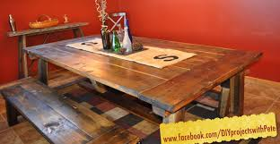 12 Foot Dining Room Tables How To Build A Farmhouse Table The Most Complete Video Online