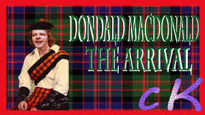 donald macdonald the arrival youtube