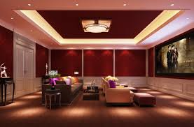 luxury home theater mesmerizing red home theater designs with gray fabric upholstered