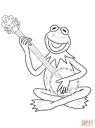 kermit the frog coloring pages kermit the frog big smile sesame
