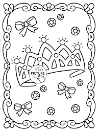 princess crown coloring page for girls for kids coloring pages