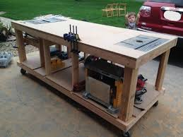 Plans For Building A Wooden Workbench by Building Your Own Wooden Workbench Make