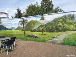 Deco Mur Exterieur Paysage Mur De Jardin